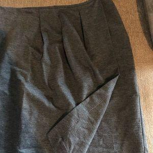 Grey Banana Republic faux wrap skirt